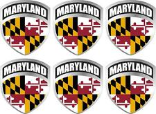 "6 - 2"" Maryland MD Flag Shield Decal Badge Sticker"