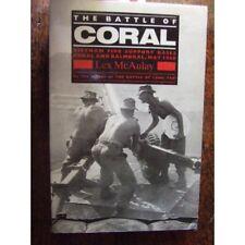 History Australian Battle of Coral Vietnam War 1968 by Lex McAulay New book