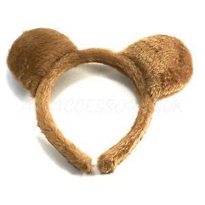 Teddy Bear Ears Fancy Dress Headband Furry Aliceband Headband