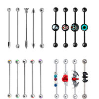 14G Surgical Steel Industrial Barbell Tribal Arrow Cartilage Earrings Piercing