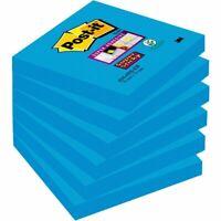 Post-it® Super Sticky Bloc de notas, 76 x 76 mm, azul intenso, 90 hojas
