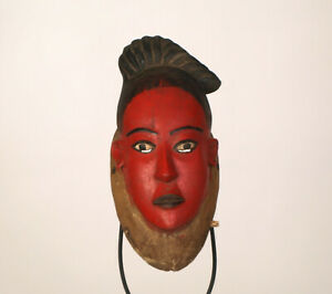 AH4 Baule Maske alt Afrika / Masque baoule ancien / Old tribal baule mask