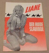 """""""Liane: Die Weisse Sklavin"""" Marion Michael 1957 Danish Original Movie Program"""