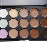 15 Color Concealer Palette#1 Kit With  Brush Face Makeup Contour Cream NeutralMW
