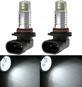 LED 50W 9005 HB3 White 6000K Two Bulbs Head Light High Beam Replacement OE