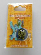 New Run Disney 2017 Disneyland Half Marathon I Did It Pixar Monsters Inc. Pin