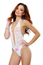 624ad8122 Dreamgirl White Lace Teddy with Heart Cut-Out Detail Female Lingerie