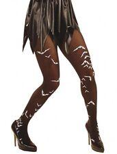 Negro Halloween Medias Con Bat impresión calcetería Xl Talla Plus Fancy Dress (16-20)