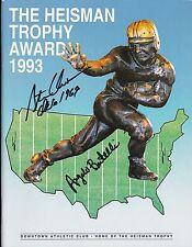 Angelo Bertelli & Steve Owens signed 1993 Heisman Trophy Award Program