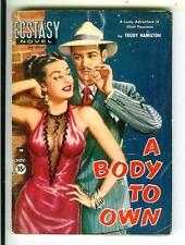 A BODY TO OWN, Ecstasy Novel #9 sleaze gga pinup digest pulp vintage pb