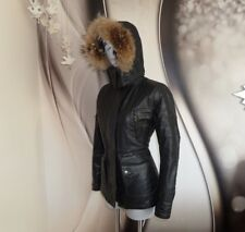 MATCHLESS WATERPROOF WOOL LINED Coyote FUR TRIM FITTED PARKA COAT JACKET M