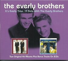 THE EVERLY BROTHERS IT'S EVERLY TIME / A DATE WITH THE EVERLY BROTHERS 2 CD SET