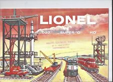 "1958 LIONEL TRAIN CATALOG-nice shape,covers Super ""O"" New Haven & Lady Lionel !!"