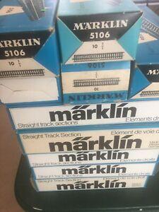 Marklin HO M-track Straight #5106 (10pcs/box) New, Unused, Boxed