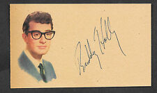 Buddy Holly Autograph Reprint On Genuine Original Period 1950s 3x5 Card *PHT