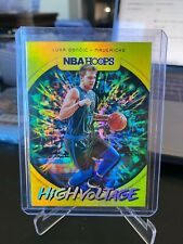 2019-20 Panini NBA Hoops High Voltage Luka Doncic Dallas Mavericks #9 SP HOT