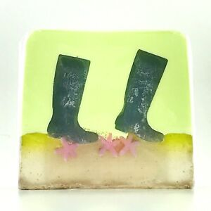 VEGAN LIME AND PATCHOULI GREEN WELLIES HANDMADE SOAP FUN NOVELTY CHRISTMAS GIFTS