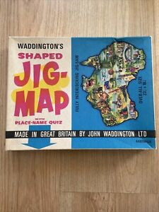 Waddingtons Shaped Jig-Map Design 565 Australia Jigsaw Puzzle