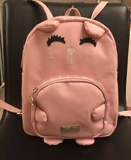 Luv Betsey By Betsey Johnson Kitty Cat Blush Mini Backpack Bag NEW