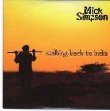 (BW860) Mick Simpson, Walking Back to India - 2010 CD