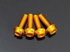 mr-ride Water Bottle Cage bolts screws AL 2024 M5x15mm Gold 4pcs