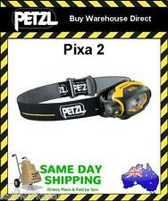 Petzl Pixa 2 Light LED Black/Yellow Headlamp Safety Torch 30 Lumens