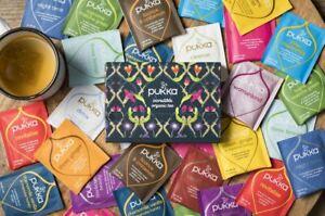 Pukka Organic Herbal Individually Enveloped Tagged Tea Bags, Random Selection