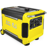 Portable 3000W Digital Inverter Quiet Generator w/ USB Electric Start w/ Wheel