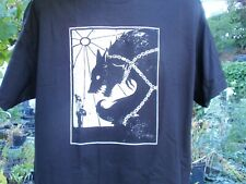 tyr and fenrir wolf  med. t-shirt  asatru odin viking norse thors hammer