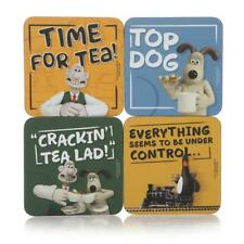 Official Licensed Aardman Wallace & Gromit Set of Four Coasters - NEW!!