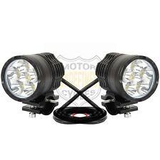 40W 4000LM 6LED White Motorcycle Bike Headlight Fog Light Spot Lamp For Honda