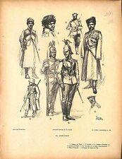 Armée impériale russe Imperial Russian Army Cosaque du Terek Fouqueray 1914 WWI