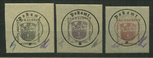 Lokalausgaben Bad Nauheim 4 II y, 5 I x und 8 II x postfrisch top!  (B11996e)