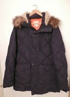 Gap ColdControl Max hooded puffer parka Navy Size Large DH004 JJ 04