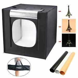 60x60x60cm Fotobox Fotostudio Set 50W Led Lichtbox für Professionelle Fotografie