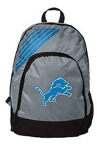 Detroit Lions BackPack Back Pack Book Sports Gym School Bag New Border Stripe
