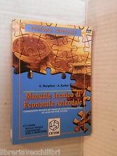 MANUALE TECNICO DI ECONOMIA AZIENDALE C Borghesi e A Keller Cetim 1996 libro di