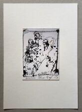 Thomas Rieck, übermalte Postkarte, 2017, handsigniert und datiert