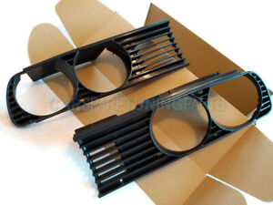 BMW E30 3 SERIES 1982-1994 FRONT GRILL GRILLS BLACK EURO M TECH LEFT RIGHT - SET