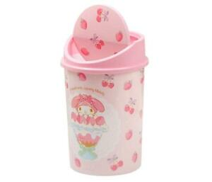 Cute My Melody Home Trash Can with Swing Lid Waste Garbage Bin Wastebaskets