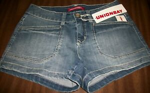 Juniors Shorts sz 11 UNION BAY DELANEY Wham Blue (Denim) 67%Cotton 1%Spandex NWT