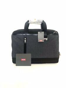 NEW Tumi Burke Portfolio - Slim Top Zip Briefcase Bag - Heather Gray - $325 MSRP