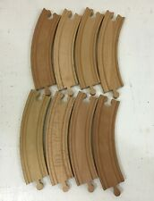 "8 Brio/Thomas the Train Compatible Wooden 6 1/2"" 6.5"" Curved Pieces Track Wood"