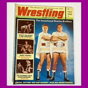 WRESTLING REVUE MAGAZINE Fall 1960 #4 Bastien Bros. KILLER KOWALSKI Buddy Rogers