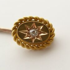 Antique Diamond Stick Pin 15ct Gold C.1900