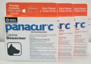 3 of Panacur C Canine Dewormer 4gram packages(Each package has 3 packets inside)