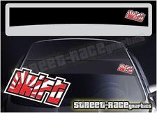 SS5061 JDM Drift Car sun strip graphics stickers Fits Subaru Toyota Nissan Mazda