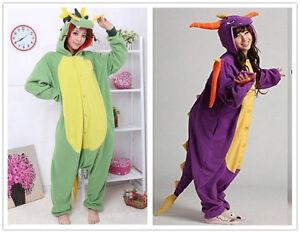 DRAGONS Unisex Onesiee Kigurumi Fancy Dress Costume Hoodies Pyjamas Sleep wear