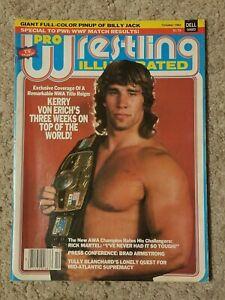 PRO WRESTLING ILLUSTRATED mag October 1984 NWA WORLD CHAMPION Kerry Von Erich