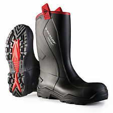 Dunlop Purofort Rugged Full Safety Wellington Boot C76204310 10